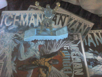 Iceman Figure and Comics