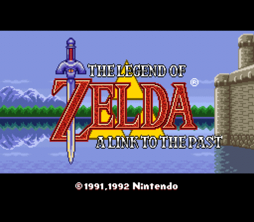 Main Screen From Legend Of Zelda - A Link To The Past