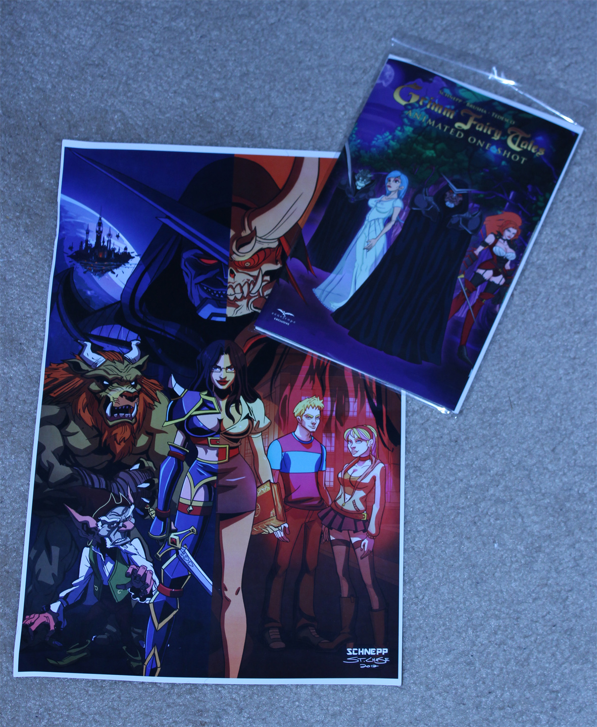 Print and Comic for Grimm Fairy Tales Animated Series