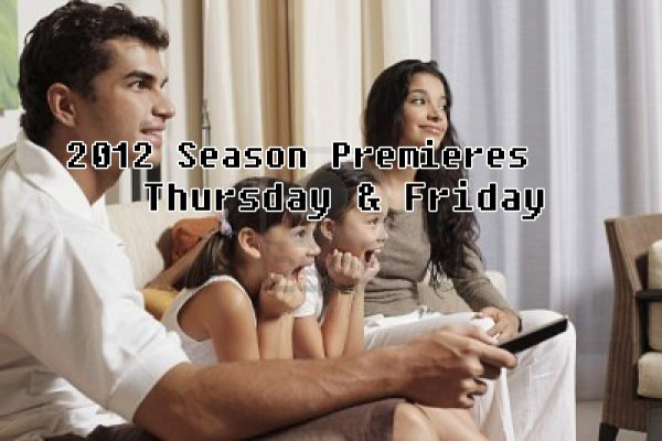 Thursday and Friday Season Premieres 2012