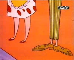 Mom and Dad's legs from Cow and Chicken