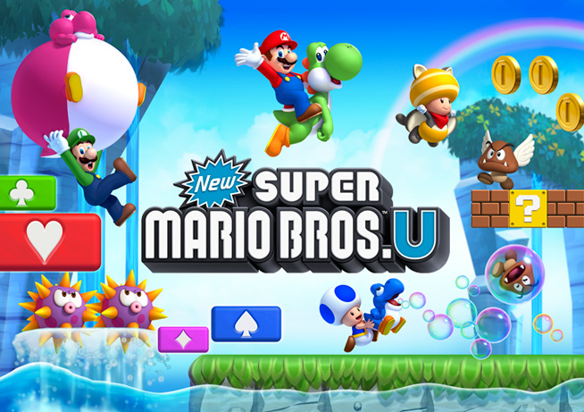New Super Mario Bros. U title screen