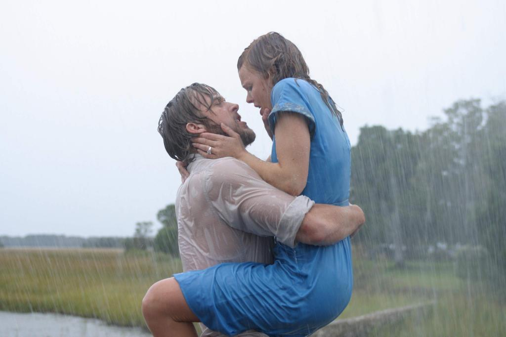 The Notebook and rain.