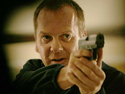 Jack Bauer holding a gun
