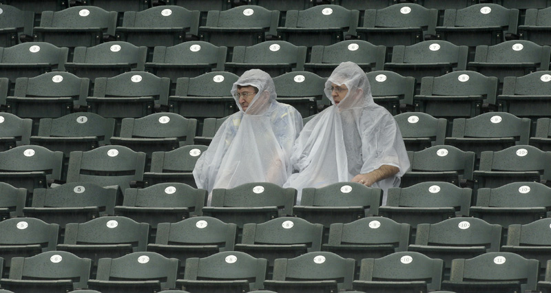 Fans in Ponchos