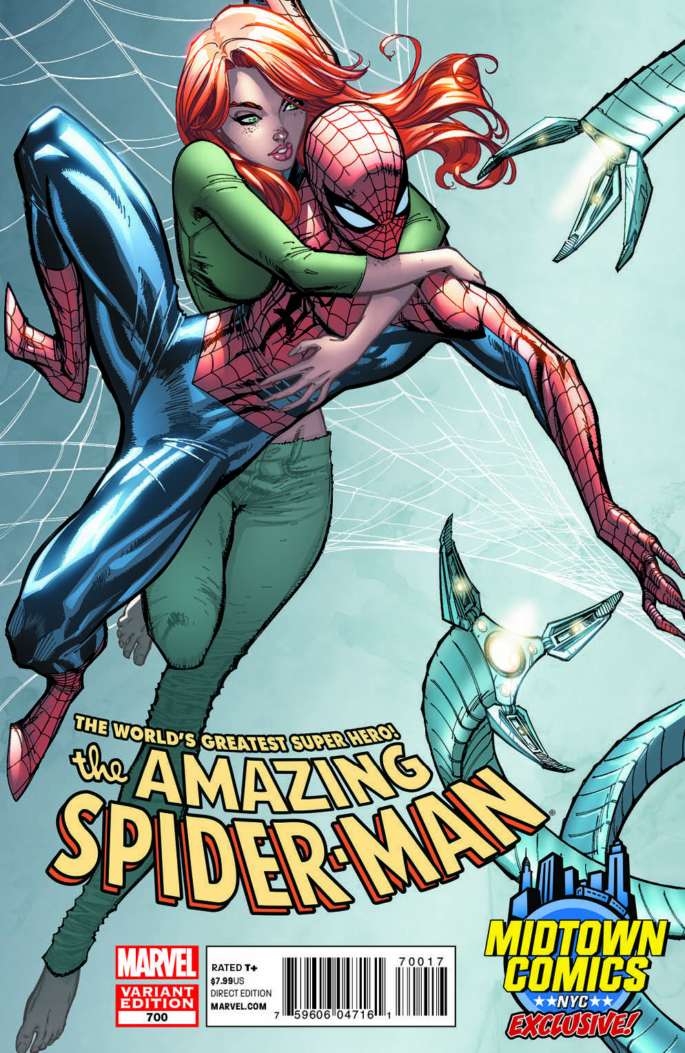 J Scott Campbell Variant of Amazing Spider-Man #700