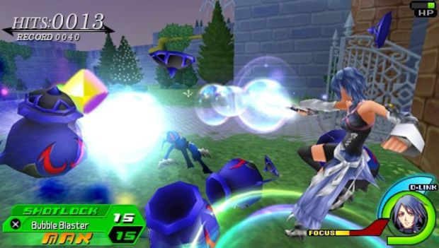 Aqua from Kingdom Hearts Birth By Sleep using Bubble Blaster