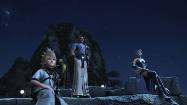 Ventus, Terra, and Aqua from the Opening of Kingdom Hearts Birth By Sleep