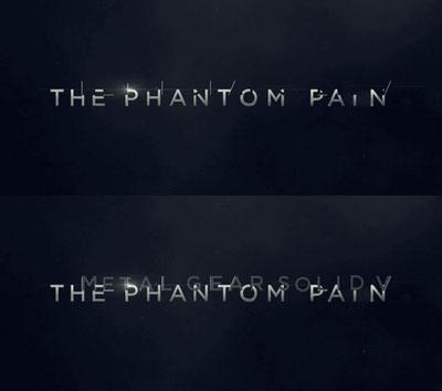 Phantom Pain is Metal Gear Solid V