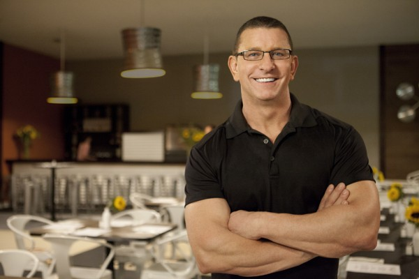 Robert Irvine in a restaurant