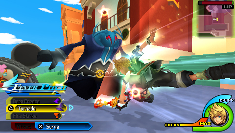 Ventus fight the Unversed in Kingdom Hearts Birth by Sleep