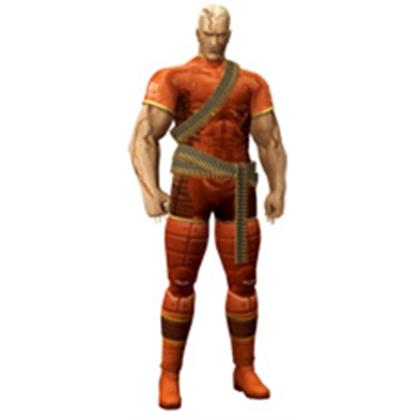 Colonel Volgin in rubber combat suit