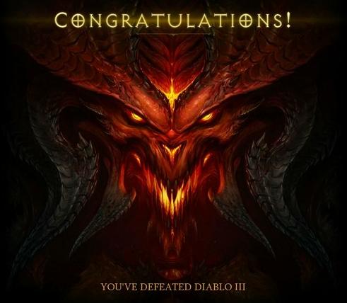 Diablo III End Screen