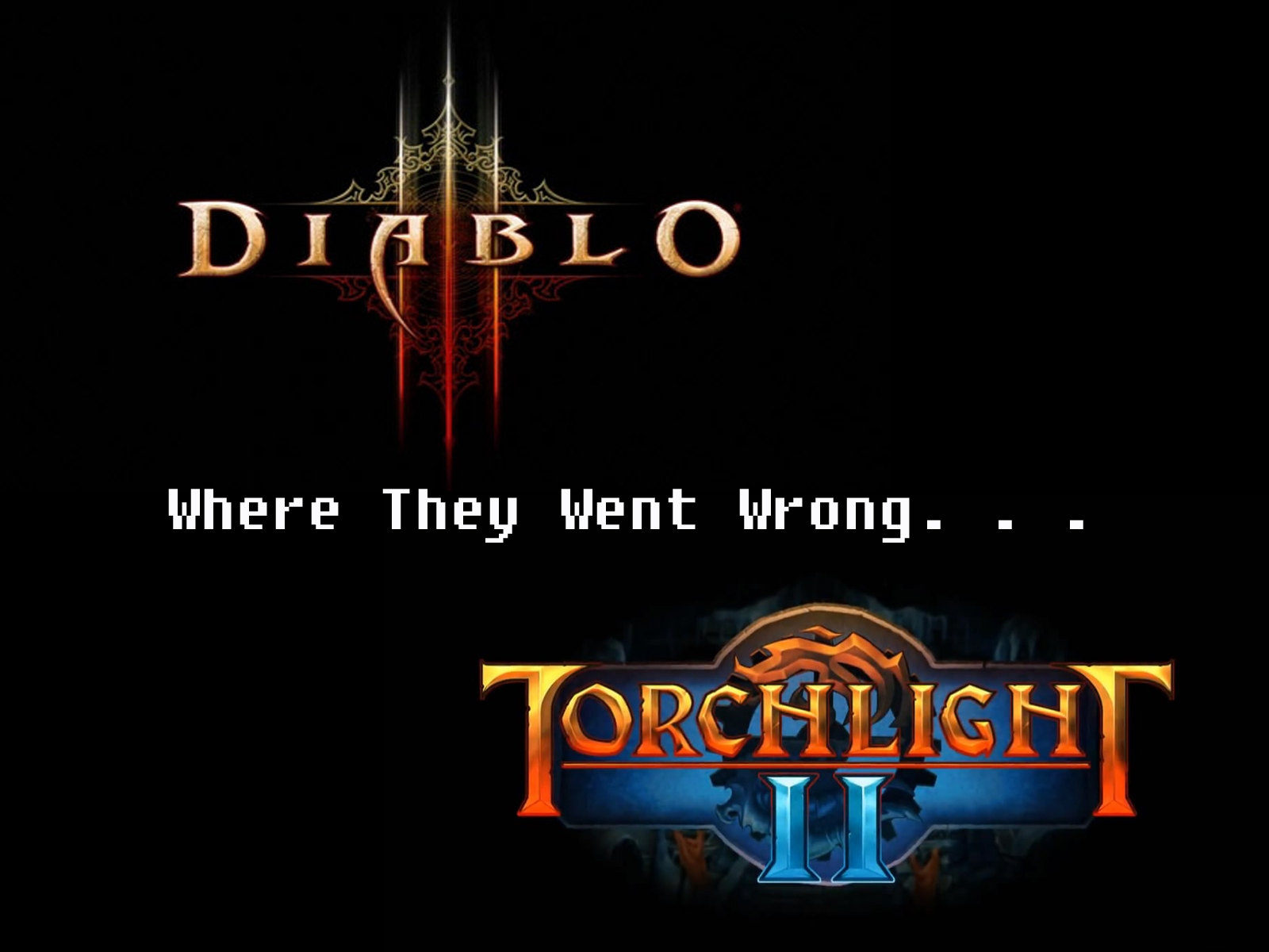 Diablo 3 and Torchlight 2 logos
