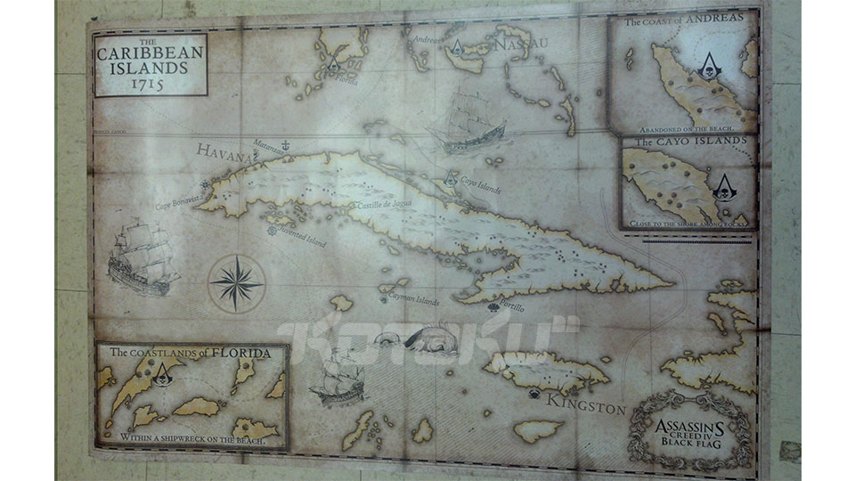 Map for Assassin's Creed IV Black Flag