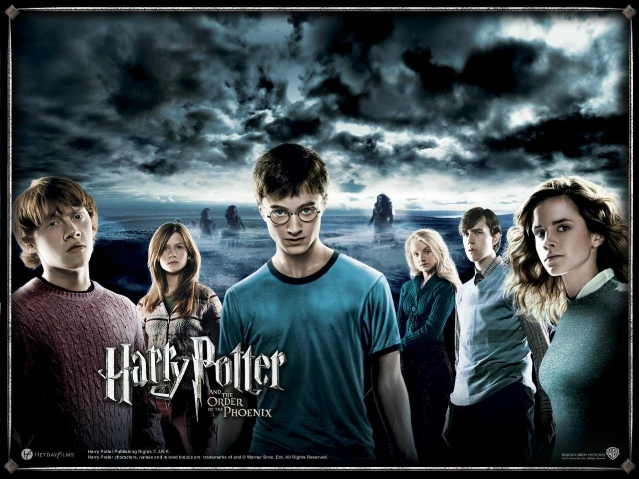 Ron, Ginnie, Harry, Luna, Neville, and Hermoine from Harry potter and the Order of the Phoenix.