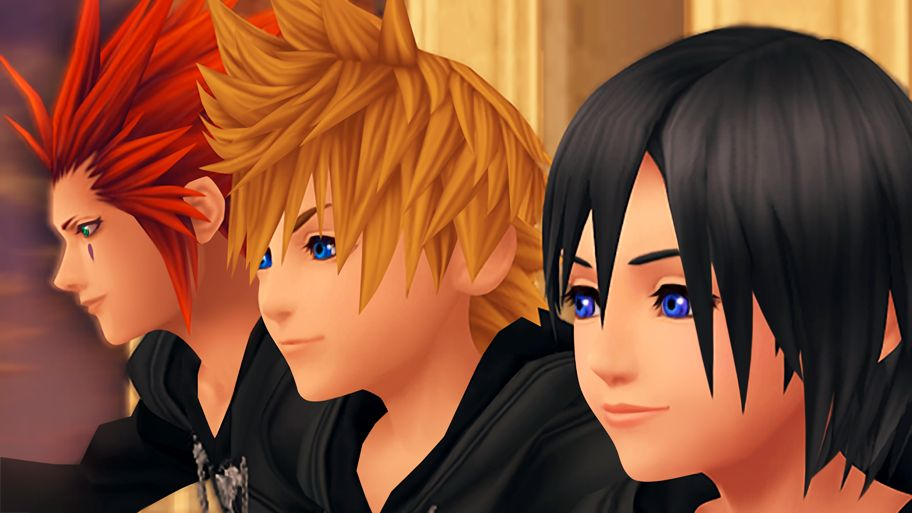 Axel, Roxas, and Xion from Kingdom Hearts 1.5 HD Remix