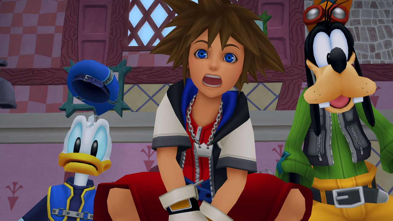 Sora, Donald, and Goofy from Kingdom Hearts 1.5 HD Remix