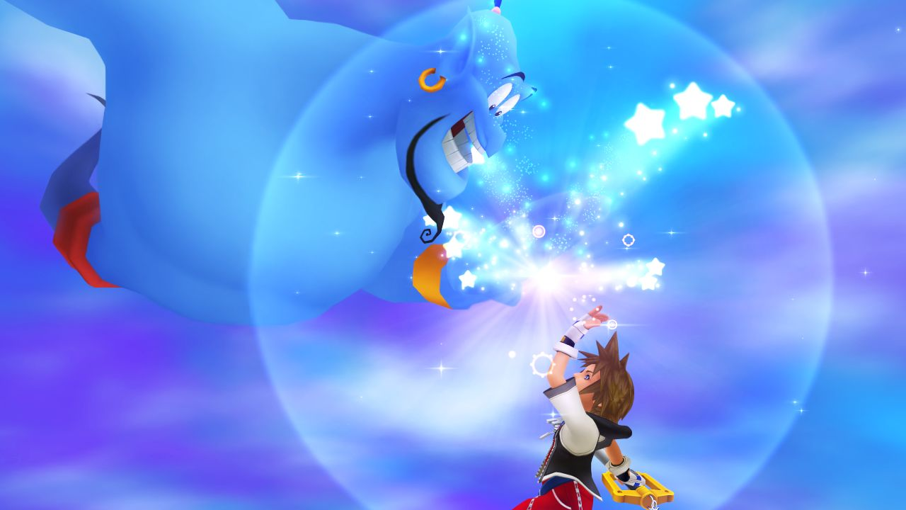 Sora and Genie from Kingdom Hearts 1.5 HD Remix