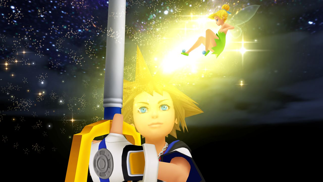 Sora and Tinkerbell from Kingdom Hearts 1.5 HD Remix