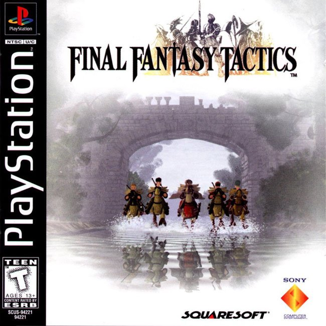 Box art for Final Fantasy Tactics on PlayStation