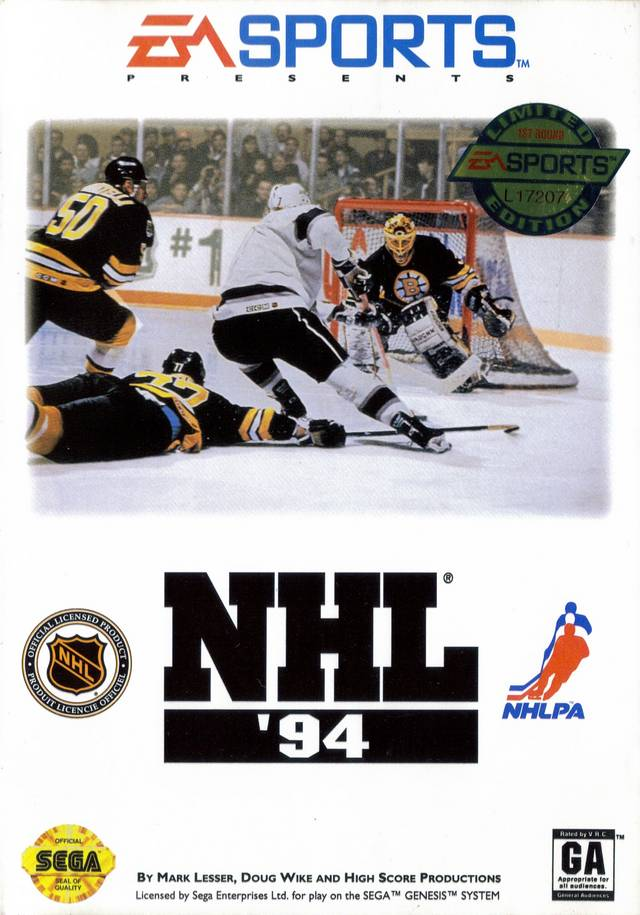 Box art for NHL '94 on Sega Genesis