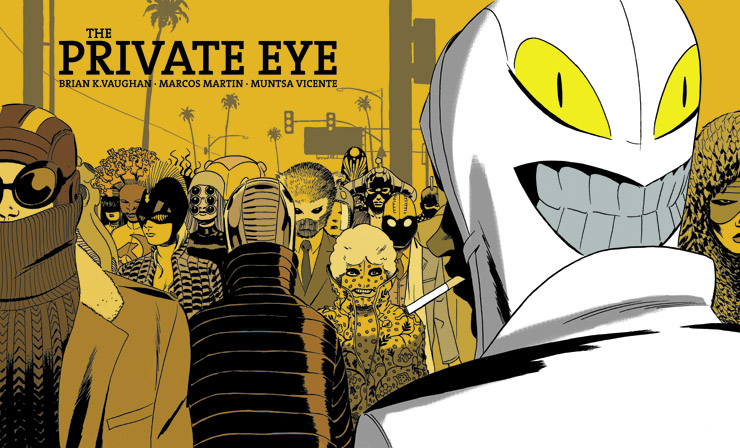 Cover for The Private Eye by Brian K. Vaughan, Marcos Martin, and Muntsa Vicente.