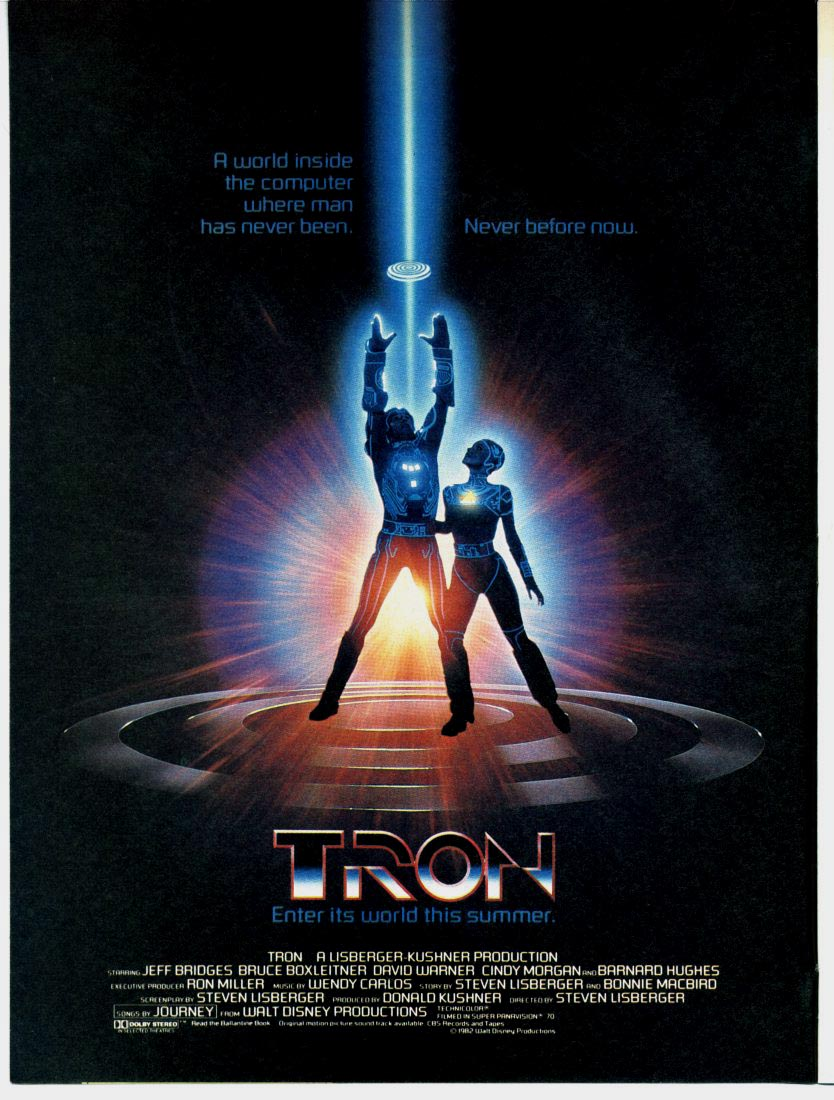 Poster for the original Tron
