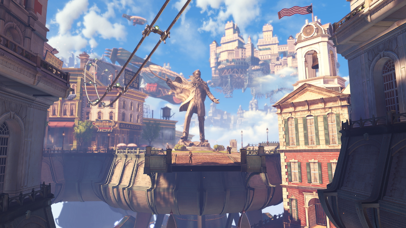The city of Columbia from BioShock Infinite.