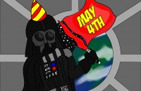 Darth Vader celebrating May the 4th!