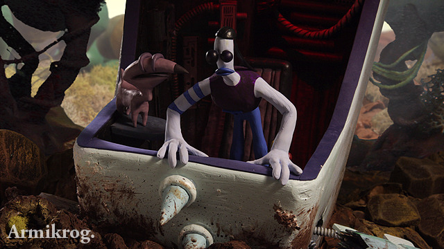 In game screenshot of Armikrog. by Pencil Test Studios.