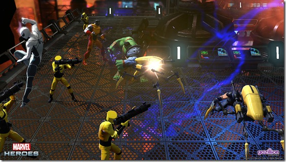 Screen cap from Marvel Heroes