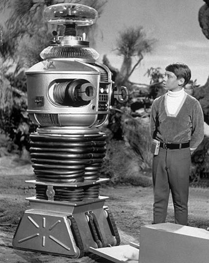 Robot and Will Robinson from Lost in Space