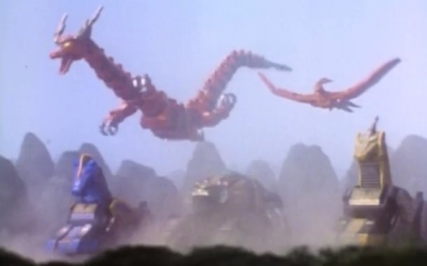 The Thunderzords introduced in the Mighty Morphin Power Rangers The Mutiny