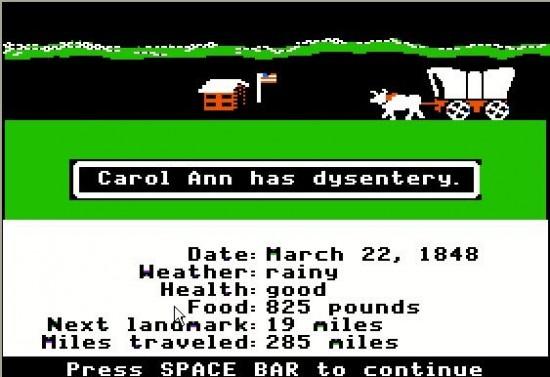 Carol Ann has dysentery