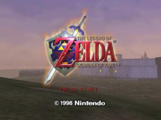 ZeldaOcarinaOfTimeStartScreen