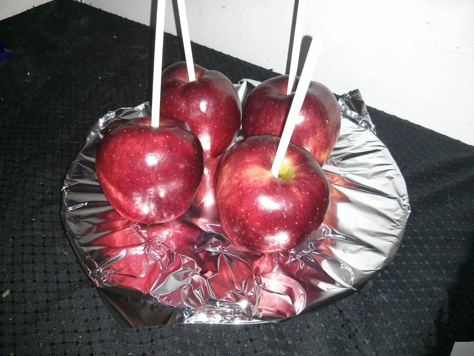 Hulk Apples on Sticks