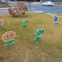 Plants vs. Zombies Lawn Standees 4