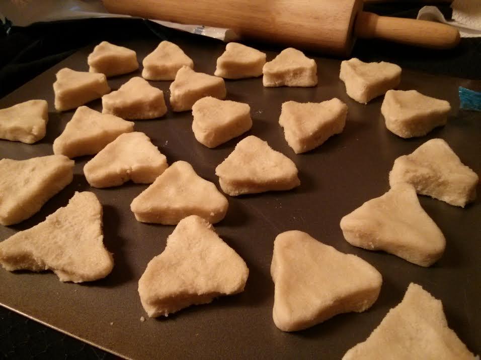 Semi-Homemade Zelda Triforce Cookies - Triangles